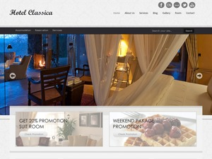 Hotel Classica WordPress template for business