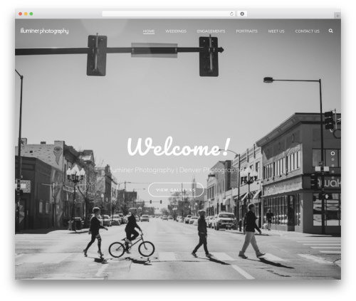 Jupiter photography WordPress theme - illuminerphotography.com