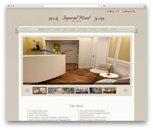 QueenHotel WordPress theme - imperial-hotel.com