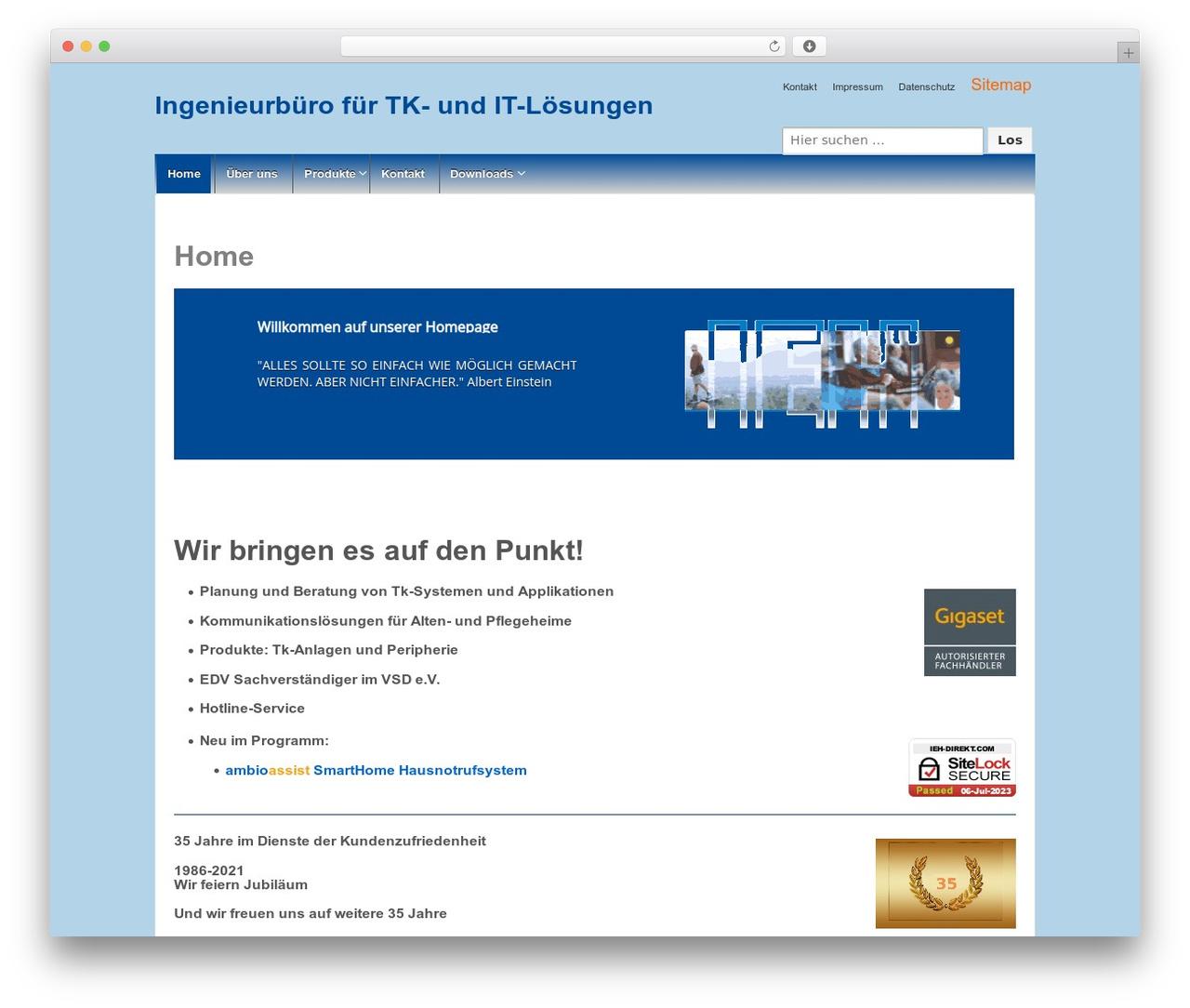 Responsive premium WordPress theme - ieh-direkt.com