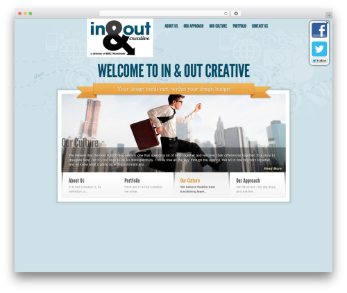 Sky WordPress theme - inandoutcreative.com