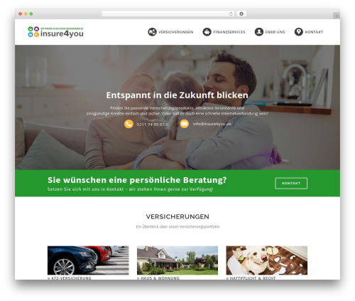 WordPress template Bridge - insure4you.de