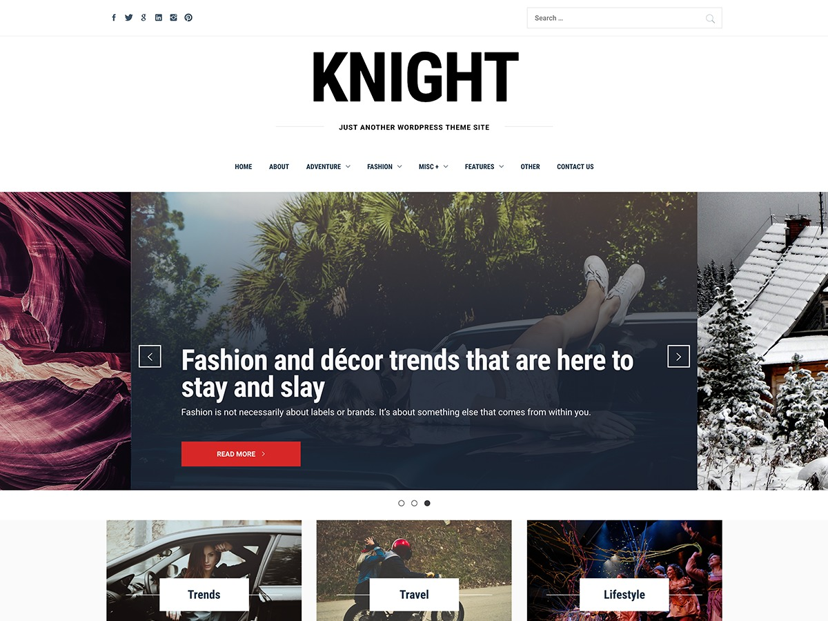 WP theme Knight