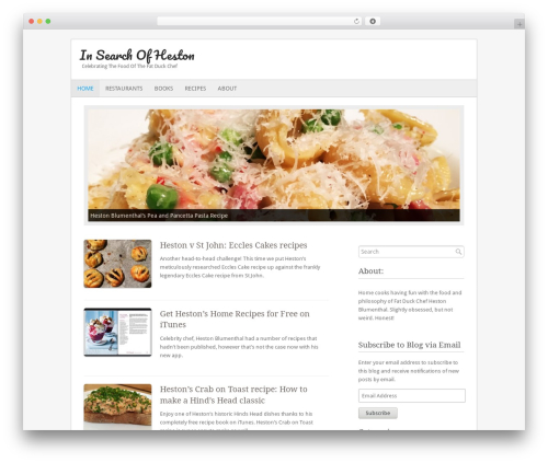 Fresh And Clean template WordPress - insearchofheston.com