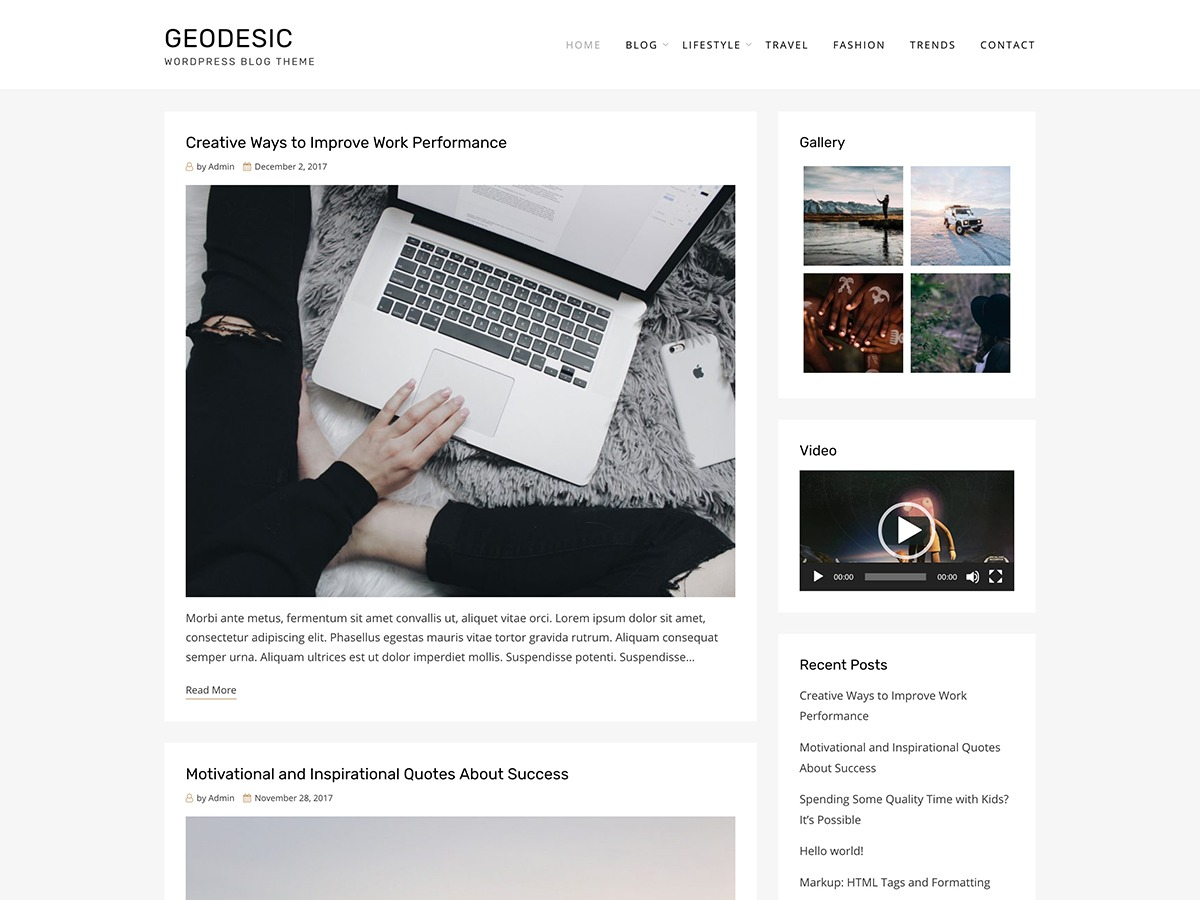 Geodesic best WordPress magazine theme