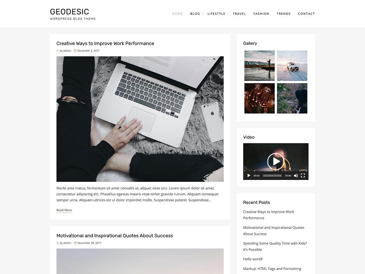 Geodesic best WordPress magazine theme