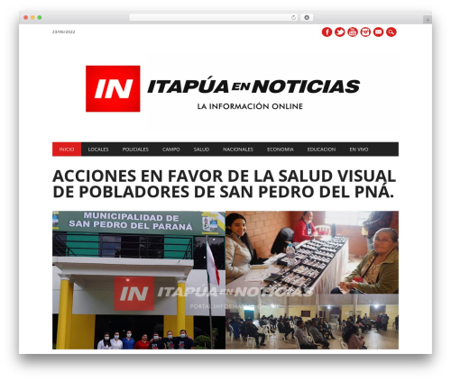 The Newswire free WordPress theme - itapuanoticias.tv