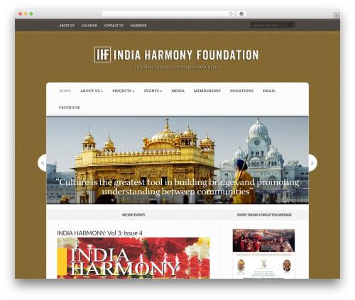 Theme WordPress Aggregate - indiaharmonyfoundation.com