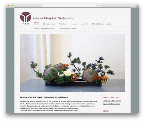 WordPress theme Agility - ikebana-ohara.nl