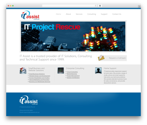 WordPress website template Vulcan - itassist.net.au