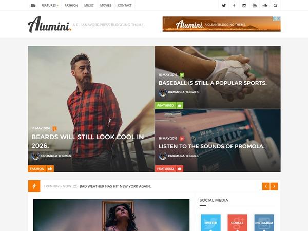 Alumini WordPress blog template