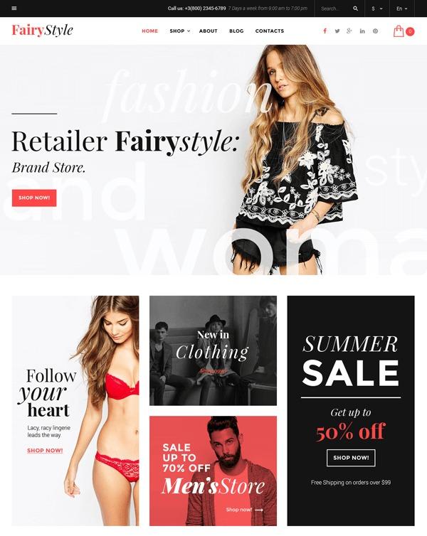 FairyStyle template WordPress