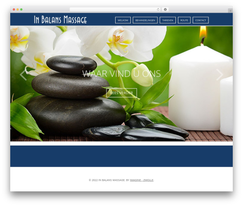 Indigo massage WordPress theme - inbalansmassage.com