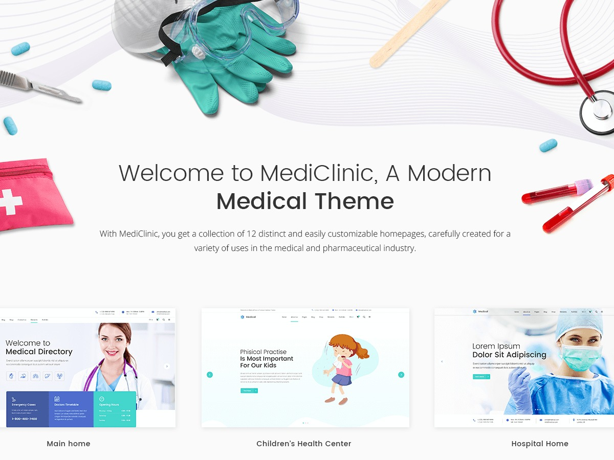 MediClinic medical WordPress theme