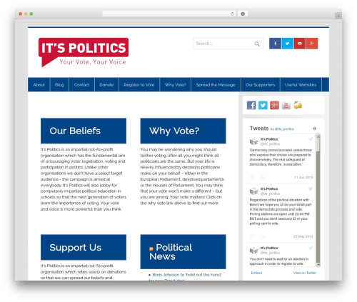 Smartline top WordPress theme - itspolitics.org