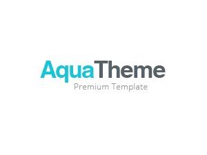Aqua business WordPress theme