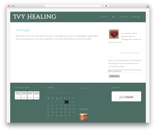 Asteria PRO WordPress theme - ivyhealing.com