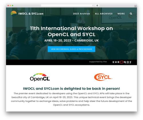 Avada WordPress theme design - iwocl.org