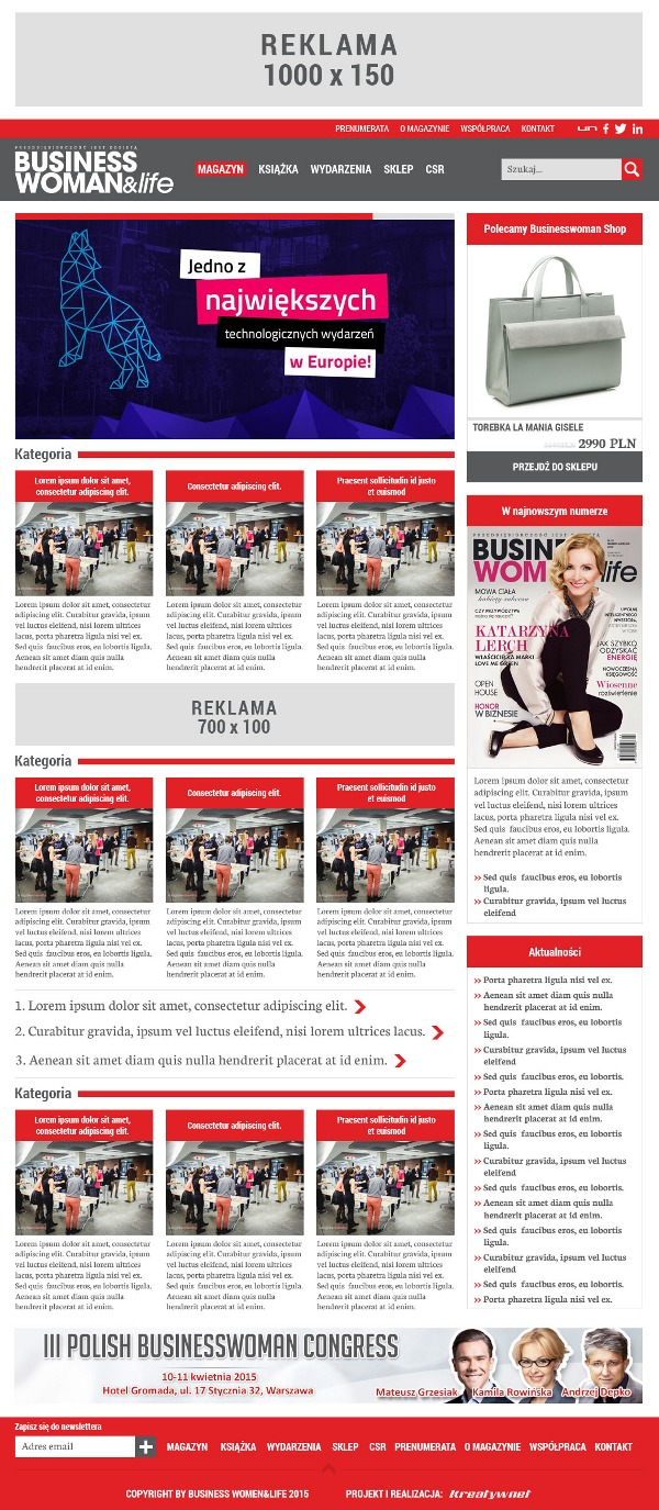 Businesswoman & life 2015 company WordPress theme