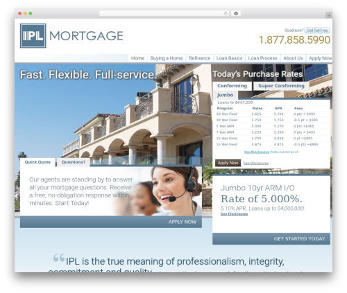 Free WordPress Tabs Shortcode plugin - iplmortgage.com