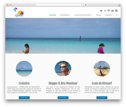 Customizr WordPress page template - intheopen.fr