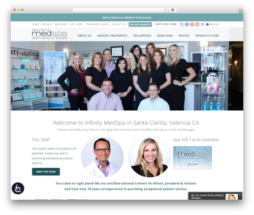 Theme best WordPress template - infinitymedspa.net
