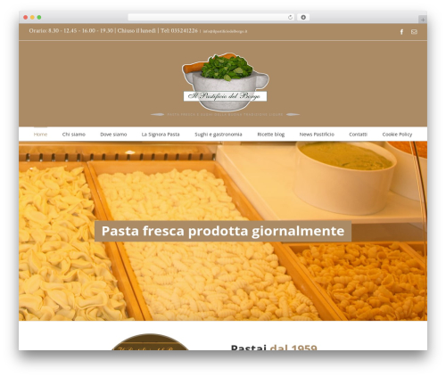 Theme WordPress Avada - ilpastificiodelborgo.it