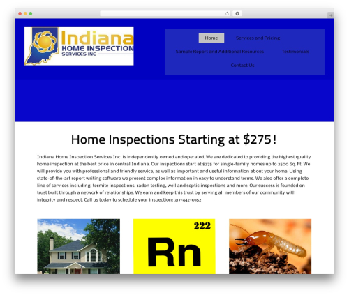 ThemeAlley.Business.Proo company WordPress theme - indianahomeinspection.net