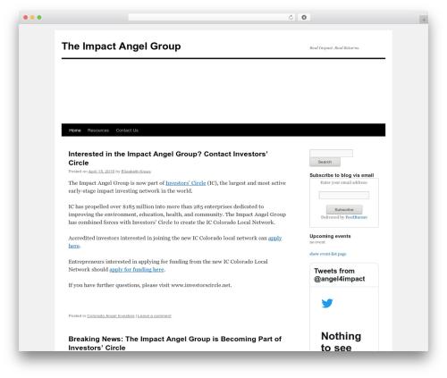 Twenty Ten free WordPress theme - impactangelgroup.com