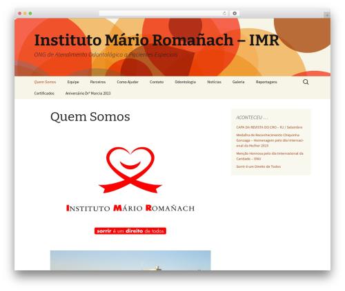 Twenty Thirteen free WordPress theme - imr.org.br