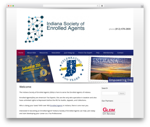 WordPress theme Customized - indianaenrolledagents.com