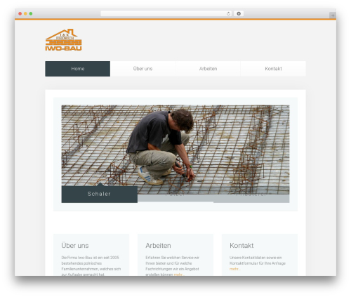 WordPress theme Unity - iwo-bau.de
