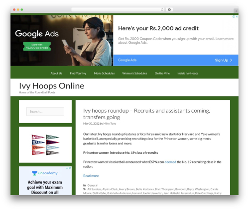WordPress website template GeneratePress - ivyhoopsonline.com