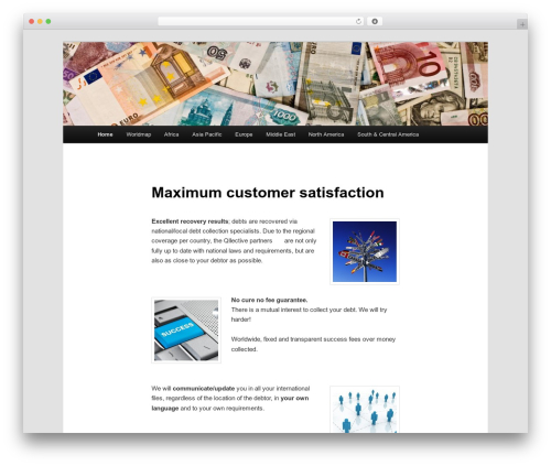 Best WordPress theme Twenty Eleven - internationaldebtcollectionspecialists.com