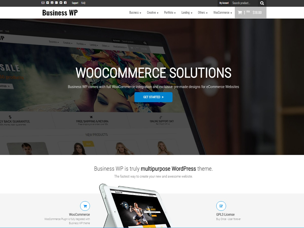 Business WP business WordPress theme