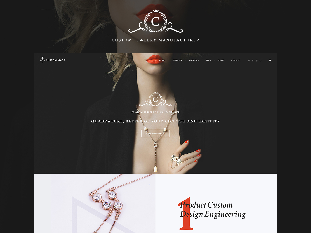 Custom Made WordPress blog theme