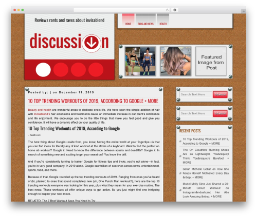 DISCUSSION free WordPress theme - invisablendreviews.com