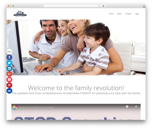 DMS WordPress template - ifamily-club.com