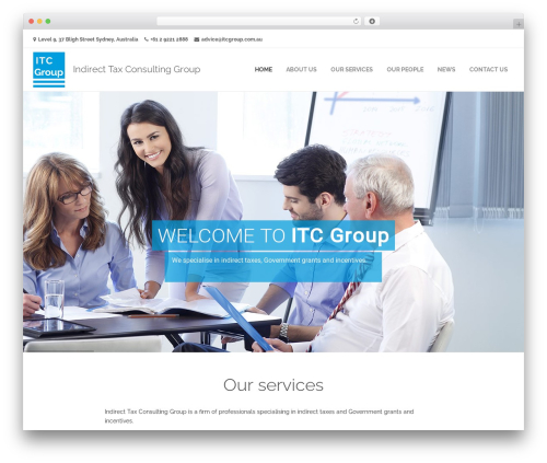 Frover Progression template WordPress - itcgroup.com.au