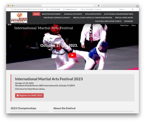 PressCore WordPress website template - internationalmartialartsfestival.com