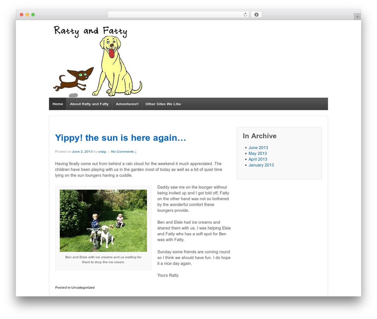 Responsive WordPress template free - rattyandfatty.com