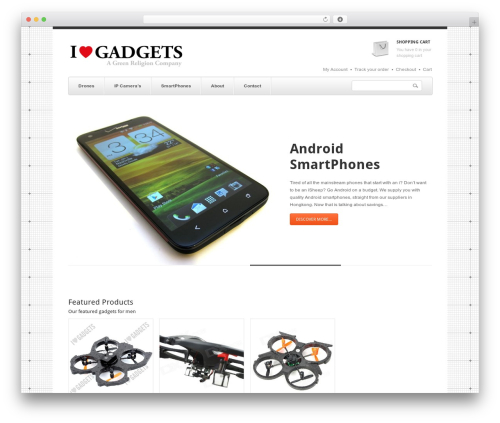 SmartShop WordPress ecommerce theme - ilovegadgets-store.com