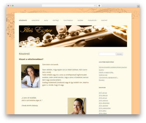Twenty Twelve free WordPress theme - illeseszter.com