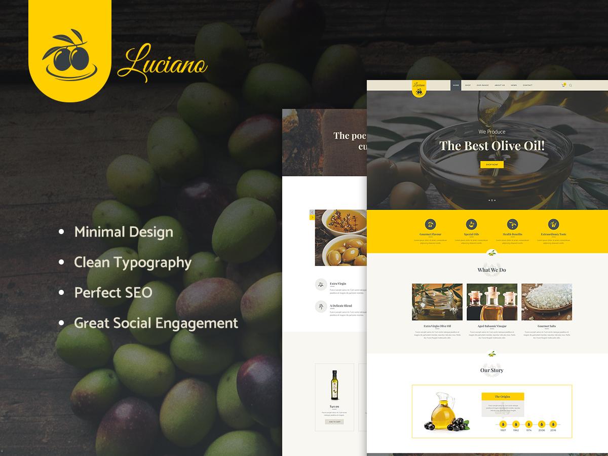 WordPress theme OliveOil