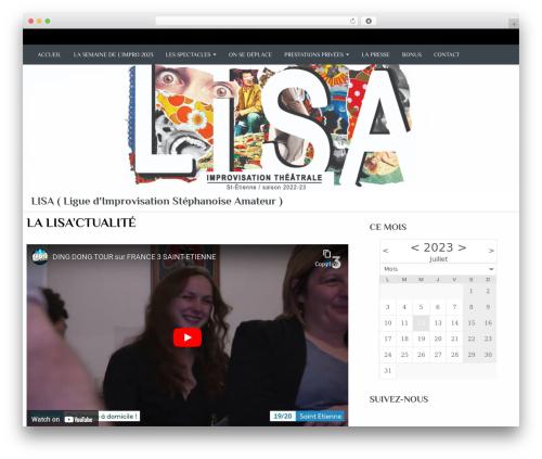 Almasi WordPress theme - improlisa.fr