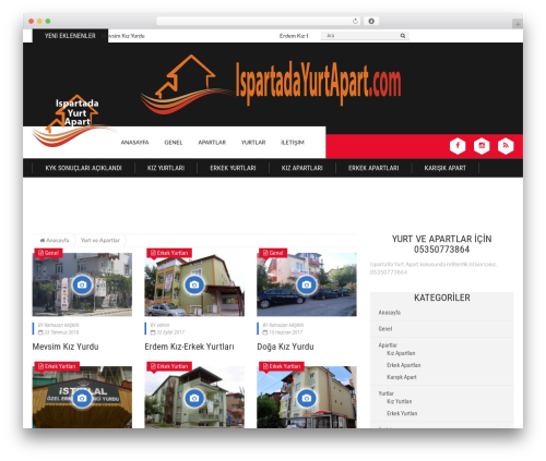 Best WordPress template Epira Lite - ispartadayurtapart.com