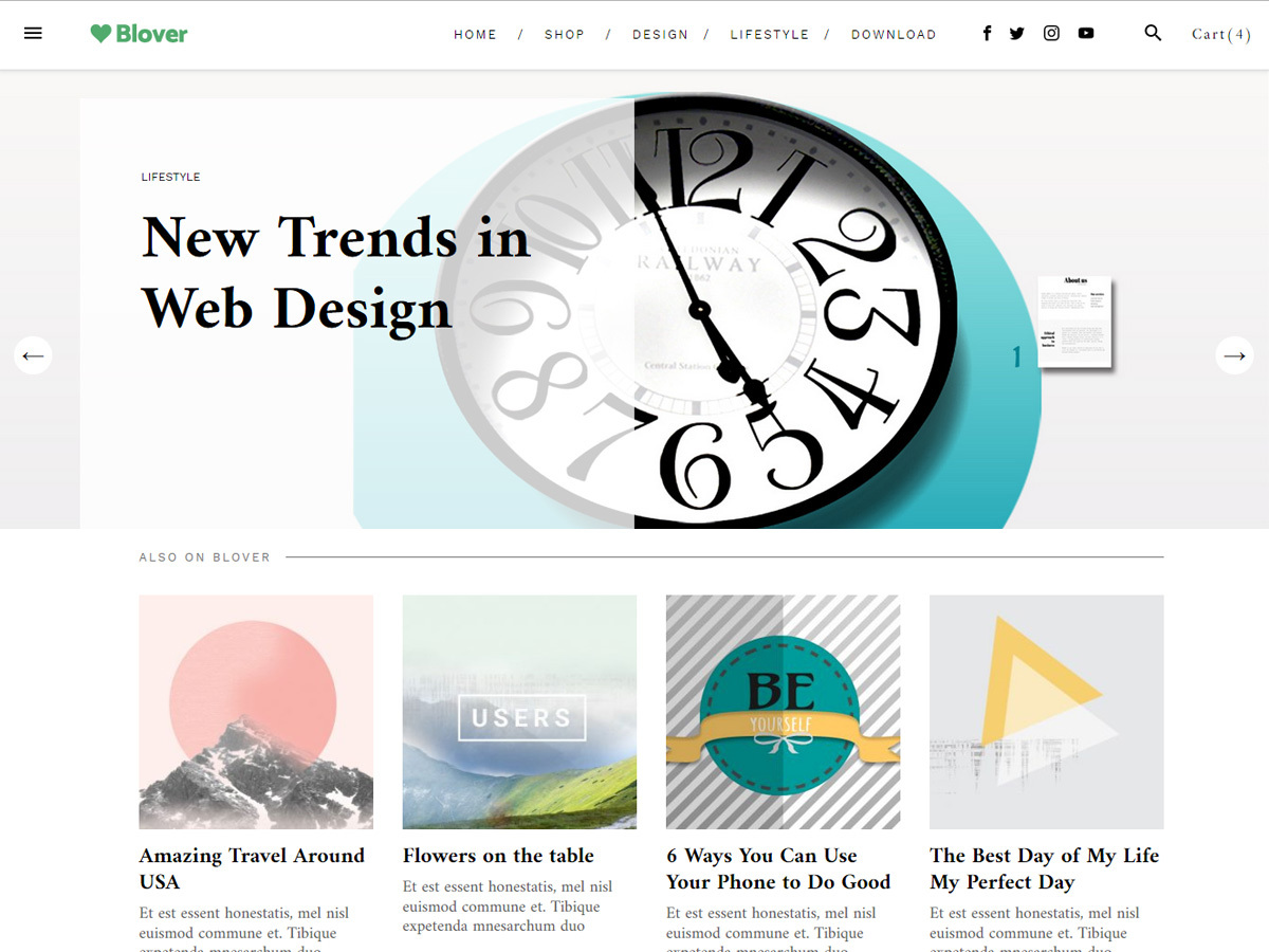 Blover WordPress magazine theme