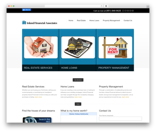Corona real estate WordPress theme - inlandfinancial.net