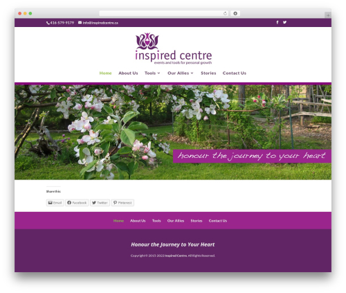 Divi WordPress ecommerce template - inspiredcentre.ca