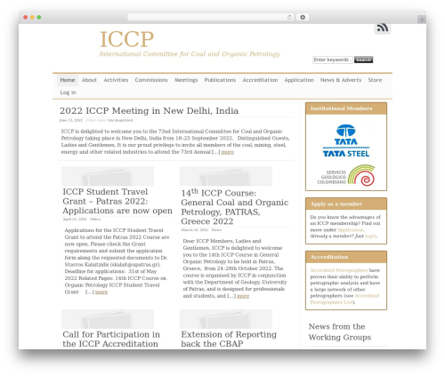 Theme WordPress Clear Line - iccop.org